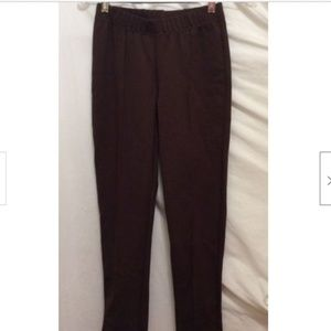 Lilly Pulitzer Pants S Solid Brown Elastic Waist